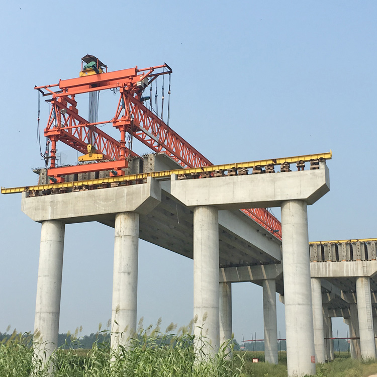 Bridge launcher crane
